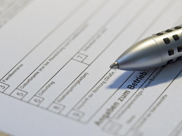 Formulare mit Stift