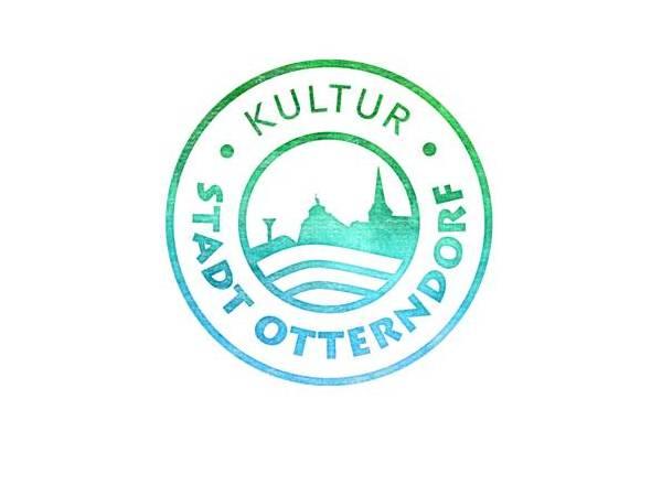 Schriftzug Kultur Stadt Otterndorf in grünblauer Farbe